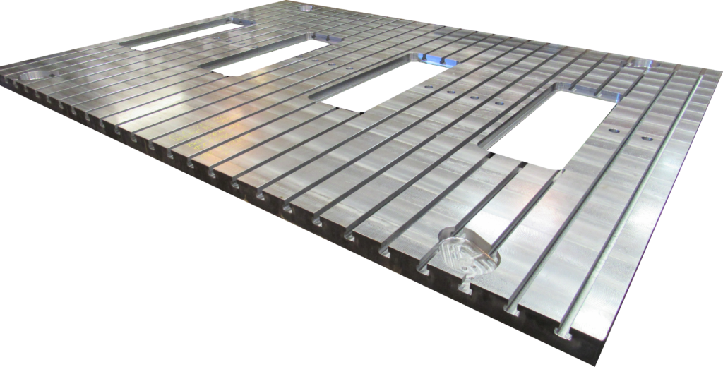 Polished and Machined Steel Plate Silver