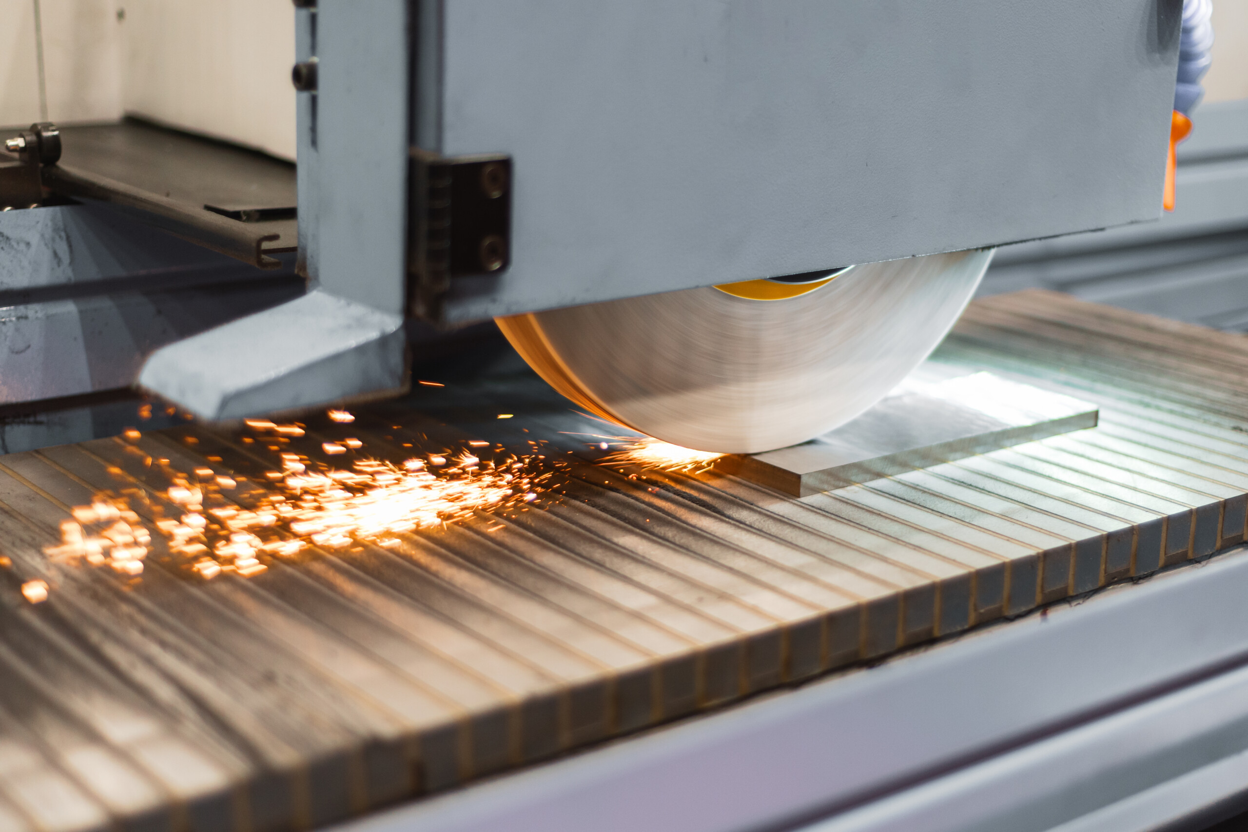 Surface Grinding of Steel Plate